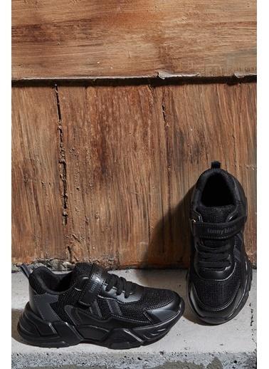 Tonny Black Siyah Çocuk Spor Ayakkabı Tb0098 Siyah